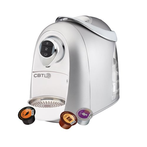 CBTL Kaldi 9903 Single-Cup Brewer Espresso, Coffee and Tea Bundle, White/Silver