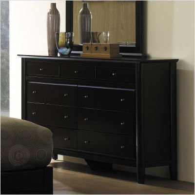 Modus City II Nine Drawer Dresser in Coco