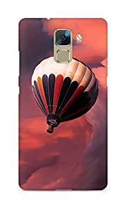 Amez designer printed 3d premium high quality back case cover for Huawei Honor 7 (Flight balloon sky)