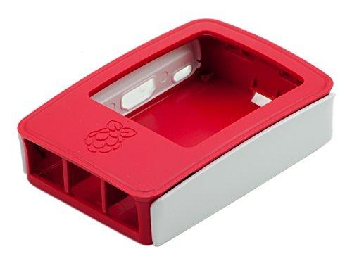 Scatola ufficiale per Raspberry Pi. bianco/rosso