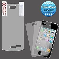 MyBat Pantech CDM8999 (Crux) Screen Protector Twin Pack - Retail Packaging - Clear