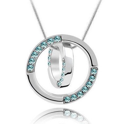 Tungsten Love Fashion And Personality Full Drill Cz Diamond Transport Bead Necklace - Girl's Gift