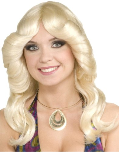 70's Disco Doll Blonde Wig - One Size