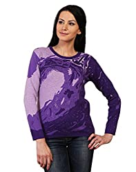 Kalt Women's Cotton Sweater (W118 M _Medium_Purple)
