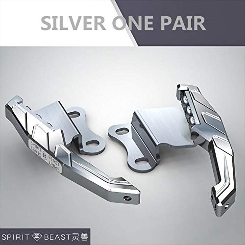 Spirit Beast Motorcycle Rear Tail Handrail Armrest Cnc Aluminum And Stainless Steel For Honda Cb190 Cbf190 Series (Color: SILVER ONE PAIR)