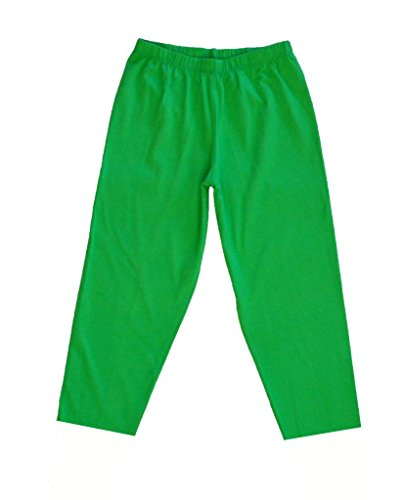 Stretch Is Comfort Women'S Plus Size Knee Length Leggings Lime Green 3X