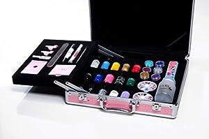 Moyou Nail Art Salon Suitcase Gift Set For Women Amazon Co Uk Beauty