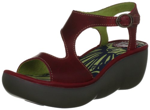 FLY London - Sandali Bianca - Donna -Rosso (Rot (Red)), 40