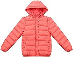Richie House Little Girls39 Padding Jacket with Ruffled Placket Rh1060