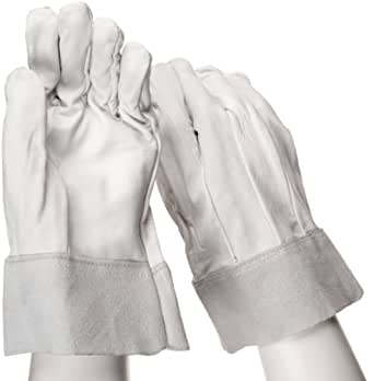 """West Chester 9960 Goatskin Leather Welder Glove, Safety Cuff, 9.5"""" Length, Small (Pack of 12 Pairs)"""