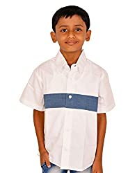 Gkidz Half sleeve White Shirt with Denim for Boys
