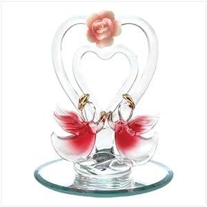 Spun Glass Angel Of Love Collectible Sculpture Figurine