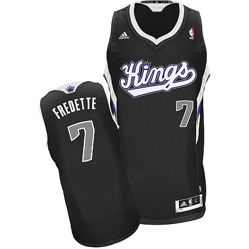 NBA Sacramento Kings Jimmer Fredette #7 Youth Swingman Alternate Jersey, Black, Medium at Amazon.com
