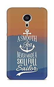 Amez A Smooth Sea Never made a Skillful Sailor Back Cover For Meizu MX5