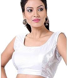 Alankar Textiles Silver Silk Blouses