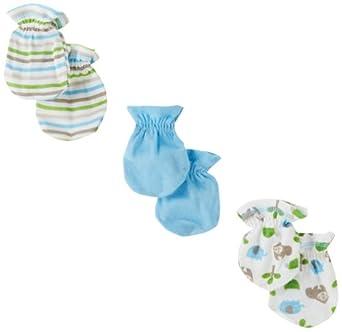 011d4e93410 Gerber Baby-Boys Newborn 3 Pack Gorilla Mitten