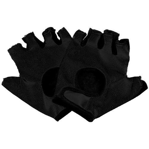 AMOS Bike Bicycle Cycling Gloves Double Padded Mitts Fingerless Breathable MTB Mountain Bike BMX Gym Fitness Outdoor Sport Exercise Wheelchair Gloves