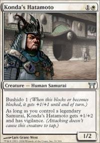 Magic: the Gathering - Konda's Hatamoto - Champions of Kamigawa (Mtg Champion Of Kamigawa Cards compare prices)