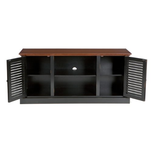 Southern Enterprises Antebellum Two-Tone Media Stand
