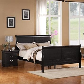 Standard Furniture Lewiston Black 2 Piece Panel Bedroom Set in Black