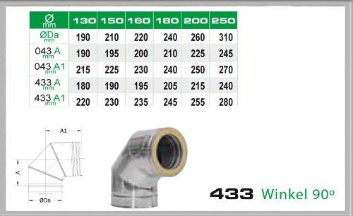 Laengenelement 940mm f/ür Schornsteinsets 150mm