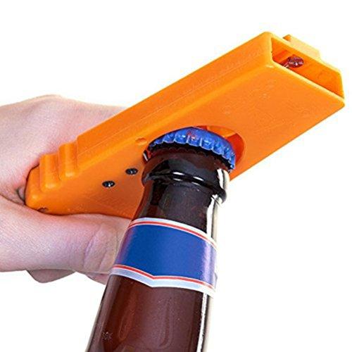 Pixnor Cap Zappa Apribottiglie, lanciatore birra Openers (Arancione)
