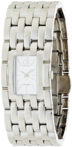 Calvin Klein Calvin Klein Braid K8423120 - Reloj para mujeres, correa de acero inoxidable color plateado