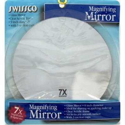 Best Cheap Deal for Swissco Suction Cup Mirror, 9 1/4 Inches, 7x from Swissco LLC - Free 2 Day Shipping Available