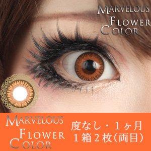 ±0.00 カラコン Marvelous Flower Color マーベラス フラワーカラー マリーゴールド