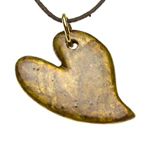 Lovebird Sunburst Patina Pendant Necklace on Adjustable Natural Fiber Cord
