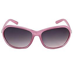 Eyeland Non-Polarized Oval Sunglasses (Pink, EYE166)