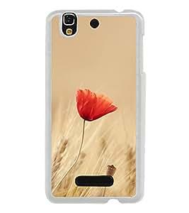 Orange Flower 2D Hard Polycarbonate Designer Back Case Cover for YU Yureka :: YU Yureka AO5510