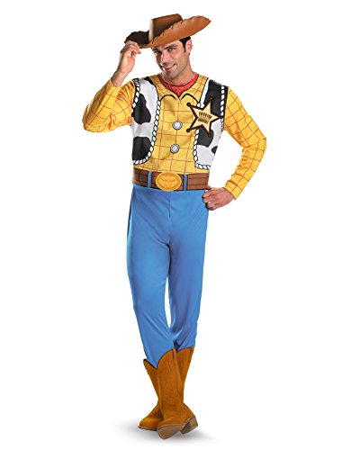 Toy Story Movie Costumes Woody Cowboy Costume Cartoon Costume Mens