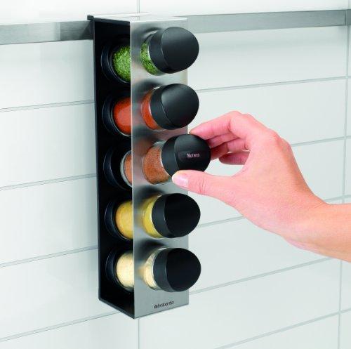 Brabantia 460241 kitchen today sistema barra a muro - Portaspezie da parete ...