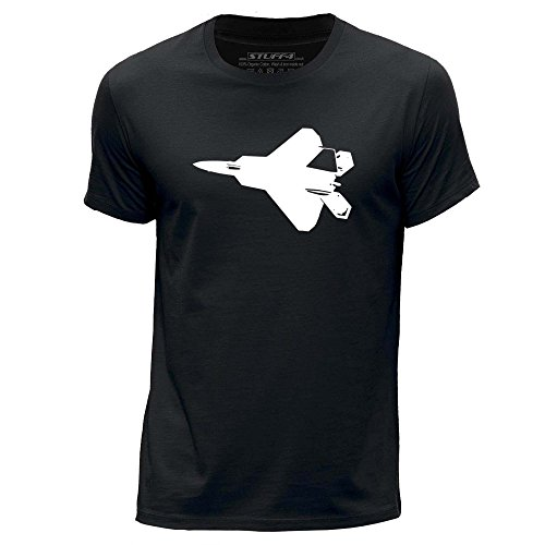 stuff4-herren-gross-l-schwarz-rundhals-t-shirt-kampfjet-f-22-raptor