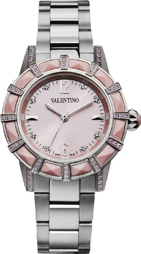 Valentino Women's V54SBQ99197S099 Eden Pink Corals and Sapphire Bezel Steel Watch