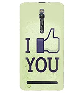 PRINTSHOPPII LOVE Back Case Cover for Asus Zenfone 2 ZE551ML::Asus Znfone 2 ZE550ML