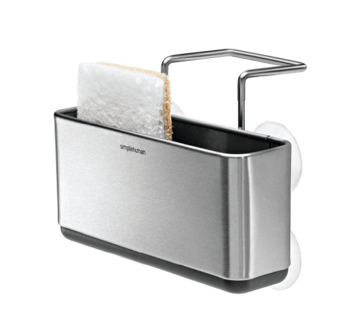 simplehuman Slim Sink Caddy, Brushed Stainless Steel (Simplehuman Dish Drying Rack compare prices)