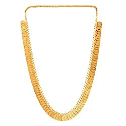 Zeneme Gold-Plated Temple Coin Chain Necklace Set For Women