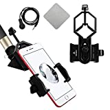 New Version with Handsfree controllor Universal Cell Phone Adapter Mount - Compatible with Binocular Monocular Spotting Scope Telescope and Microscope - For Iphone Sony Samsung Moto Etc (Tamaño: Mount)