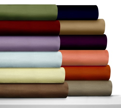 Luxury Solid Cotton Deep Pocket Flannel Sheet Set Size: Twin Extra Long, Color: Moss Green