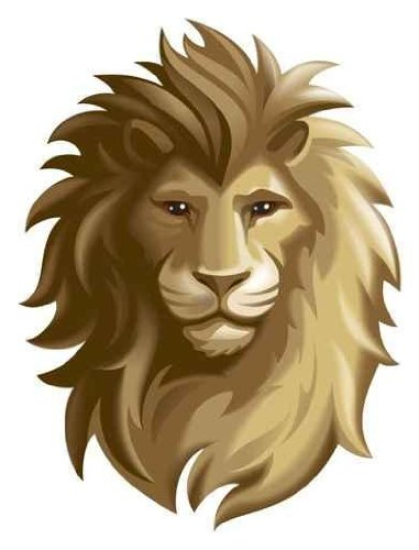 Animal Wall Decals Lion - 24 Inches X 18 Inches - Peel And Stick Removable Graphic front-797421