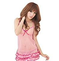 Zehui Women's Rose Cake Dress Babydoll Dress Sleepwear Lingerie Underwear Thong