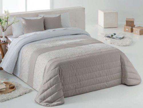 Fundeco - Colcha bouti leica color único cama de 150