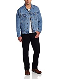 Wrangler Men's Rugged Wear Unlined Denim Jacket,Vintage Indigo,X-Large Tall
