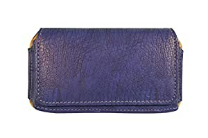 TOTTA PU Leather Hand Pouch For Idea Ultra Plus- BLUE