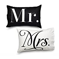 Queen Mr & Mr's Design Amadora Double Brushed Luxury Ultra Microfiber Pillowcase Set