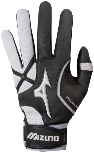 Mizuno Vintage Pro G3 Batting Glove, Black/White, X-Large