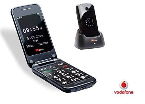 TTfone Venus 2 (TT31) Pay as you go - Big Button Flip Mobile Phone - Bluetooth Black Friday & Cyber Monday 2014