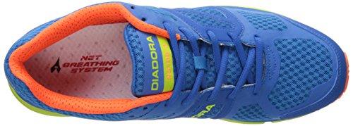 Diadora Men's N-5100-3 running Shoe, Royal/Acid Green/Light Blue, 9.5 M US